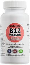 Vitamin B12 Hochdosiert 1.000 µg Tagesdosis 120 Lutschtabletten 4-Monatsbedarf