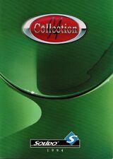 CATALOGUE COLLECTION SOLIDO 1994 - Age d'or Prestige Tonergam Signature séries