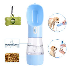 2 in 1 Portable Dog Drink Water Food Bottle Cup Pet Cat Food Container Outdoor