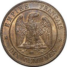 O1873 EXCEPTIONNELLE 10 Centimes Napoléon III 1861 BB Strasbourg SPL FDC !!! MO