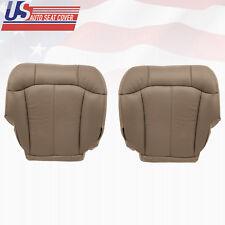 2001 2002 GMC Sierra 2500 2500HD Driver-Passenger Bottom Leather Seat Cover TAN