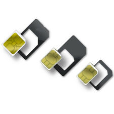 A ADATTATORE SIM A MICRO NANO STANDARD + estrattore per Iphone 5 4 4s 3 3g Ipadw