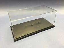 "THREE CLEAR MODEL PLASTIC DISPLAY CASE AND BASE - DRAGON 1/72 7"" x 3.5"" x 3"""
