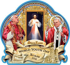 Sierra Leone 2016 MNH World Youth Day Pope John Paul II Francis 1v S/S Stamps