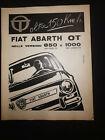 Fiat Abarth OT 850 & 1000 original 1964 vintage italian magazine ad page