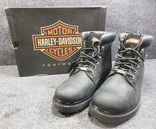 New Genuine Harley Badlands Mens Lace Ankle Boots Shoes Size 11 D91005 #C141