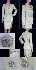 $3575 NEW ESCADA COUTURE LAME SKIRT SUIT 34 - 4