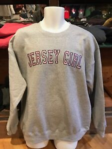 COOL JERSEY GIRL ASH CREW SWEATSHIRT PINK  SATIN  LETTERS NOT A HAT