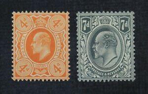CKStamps: Great Britain Stamps Collection Scott#144 145 Victoria Mint H OG