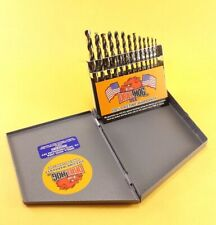"""Drill Hog® 13 Pc HI-MOLY M7 Drill Bit Set 1/16-1/4"""" Drills Lifetime Warranty"""
