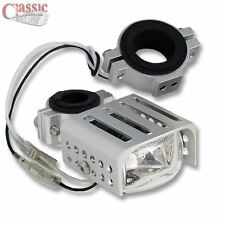 Motorcycle Spot/Fog auxiliary light square clear glass
