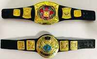 Championship Belts Accessory Lot of 2 Mattel WWE Elite Rated R and World Title