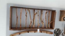 Madera de raíz de Java natural único Perchero con 9 Ganchos 88 cm Hall