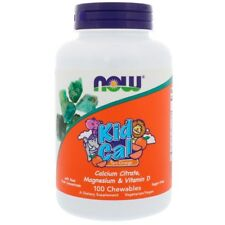 Children's Cal Mag & Vitamina D, ragazzo cal, crostata Arancione, 100 chewables-Now Foods
