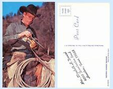 Cowboy Reloads Gun Six Shooter Western Horse Postcard