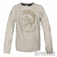Diesel Mens Sweatshirt New Only The Brave Crew Neck One Zip Pocket Cotton BNWT