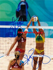 Misty May Kerri Walsh Signed 8x10 Photo Volleyball USA 08Olympic Gold FIVB Champ