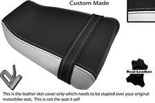 BLACK & WHITE CUSTOM FITS SUZUKI GSXR GK73A 400 CC REAR LEATHER SEAT COVER
