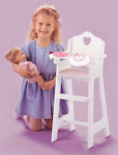 Badger Basket White Doll High Chair w/Plate, Bib, and Spoon 01013 New
