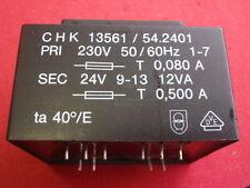 PRINT-TRAFO 24V~ 500mA 12W ABMESSUNGEN ca. 55x46x38mm TRANSFORMATOR   24791