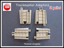 Thomas Trackmaster Tomy Blue Track convertir a Brown track.adapter [ 2 Pares ] Nueva