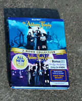THE ADDAMS FAMILY 2 MOVIE COLLECTION BLU-RAY WITH SLIPCOVER BRAND NEW SEALED