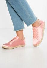 Toms Womens Lena Lace up  Espadrilles Satin Rose Pink UK size 4