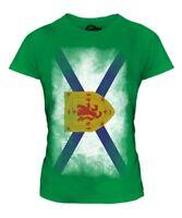 Nueva Escocia Descolorido Bandera Mujer Camiseta Top Nova Regalo