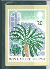 GB - PHQ CARDS -1990- 150 yrs  - KEW GARDENS - FRONT - FDI/SHS - COMP SET USED