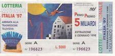 Biglietto lotteria Italia del 1997