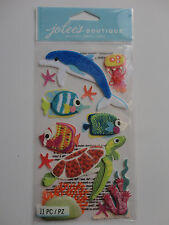 Felt Sea Life Scrapbook Sticker Sheet