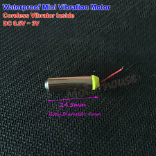 DC 0.5V~3V 1.5v Mini Coreless 7mm Waterproof Vibration Motor Massager Vibrator