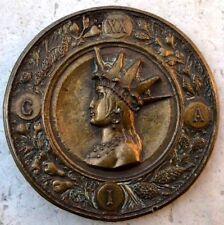 Rio De Janeiro Brasil / XX International Congress 1922 Bronze Medal 62 mm / N145