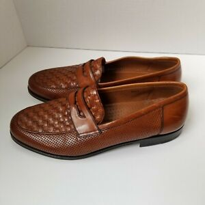 11EE E.T. Wright Masters Collection Spain Brown Leather Slip on Loafers