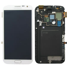 For Samsung Galaxy Note 2 N7100 White LCD Display Touch Digitizer Screen &Frame