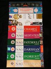 INCENSO BASTONCINI GOLDEN NAG CHAMPA MEDITATION BUDDHA PATCHOULI CHANDAN INDIA
