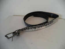 Men's Black/ White Levi's Bonded Leather Belts.