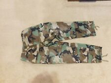 US  ARMY WOODLAND HOT WEATHER BDU PANTS SIZE SMALL-SHORT