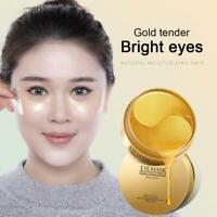 60Pcs /Box 24k Gold Moisturizing Under Eye Gel Pad Face Mask  Wrinkle New