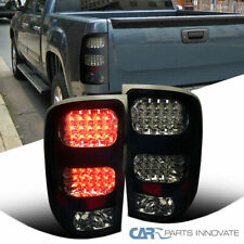 For Glossy Black 07-14 GMC Sierra 1500 2500 Smoke LED Tail Lamps Tinted Brake