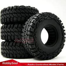 "4pcs RC 1/10 115mm Crawler Soft Tires Tyres W/ Foam Fit 1.9"" Beadlock Rims Wheel"