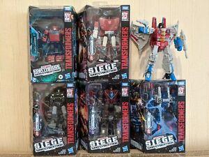 Transformers EARTHRISE SIEGE lot of 6 - Cliffjumper Sideswipe Starscream Hound