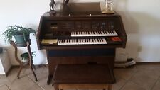 Lowrey Genius Walnut Organ With 1 Cartridge