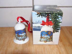 Hutschenreuther Weihnachtsglocke 1978 - 7 cm - bunte Originalverpackung + andere