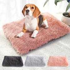 Soft Plush Cats Dogs Sleeping Mat Cozy Warm Pet Bed Gray Cushion Removable Cover
