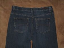 Lee Size 10 Short Relaxed Fit Dark Blue Stretch Denim Womens Jeans