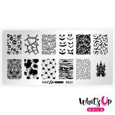 B023 Creepin It Real Stamping Plate For Stamped Nail Art Design
