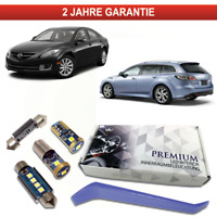 Mazda 6 GH LED Innenraumbeleuchtung Premium Set 10 SMD Weiß Canbus 2007-2012