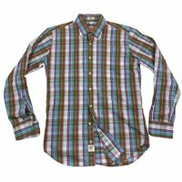 Peter Millar Weekender Wash Men's Button Down Shirt Sz Small Cotton Multi Plaid