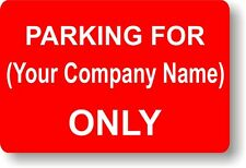 Customised Sign RIGID PLASTIC 300 x 200mm Parking